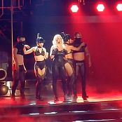 Britney Spears POM Opening Freakshow Black Spandex Catsuit HD Video