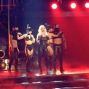 Britney Spears POM Opening Freakshow Black Spandex Catsuit HD Video