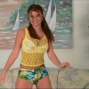 Halee Model Cute Tropical Shorts Dance Tease Video
