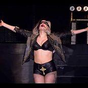 Lady Gaga Black Latex In Concert Video