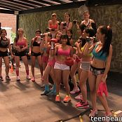 Various TeenBeautyFitness Models Gym Workout HD Video 001