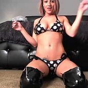 Nikki Sims Latex Boots & Polka Dot Bikini Camshow Cut Video