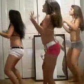 3 Cute Amateur Teens Dancing In Bedroom Video