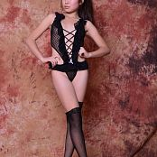 Silver Starlets Isabella Black Stockings Picture Set 1