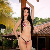 Ximena Model Tiny Checkerboard Bonus LVL 1 Picture Set 005