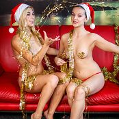 TeenMarvel Lili & Romana Holiday Cheers Picture Set & HD Video