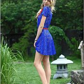 TeenModelingTV Anastasia Blue Lace Dress Picture Set