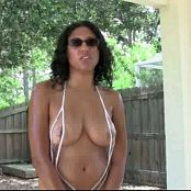 FloridaTeenModels Tina Pool Porch With Tina See Through Plastic Suit Video