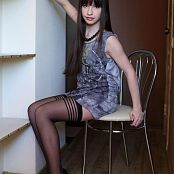 Silver Jewels Sarah Black Stockings Picture Set 1