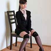 Silver Jewels Sarah Black Stockings Picture Set 2