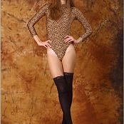 TeenModelingTV Marina Animal Print Leo Picture Set