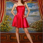 TeenModelingTV Marina Red Dress Picture Set
