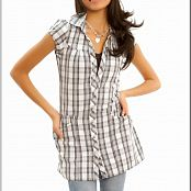 TeenModelingTV Samantha Gray Plaid Picture Set