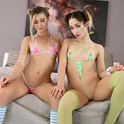 Teenikini Goldie Rush & Nicole Bikinis in Bed Picture Set & HD Video 026