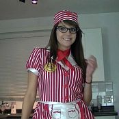 Andi Land Diner Waitress HD Video
