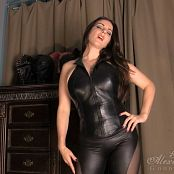 Goddess Alexandra Snow Leather Tit Worship HD Video