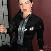 Goddess Alexandra Snow Rubber Catsuit Tease HD Video