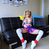 Katie Banks Lollipop Cheerleader Tease HD Video