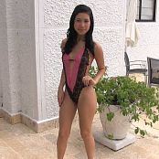 Luisa Herrera Pink & Black T-Back HD Video 002