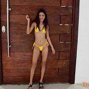TeenStarletLatinas Mayara Yellow Bikini HD Video 002