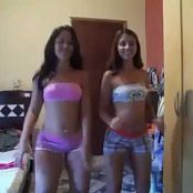 2 Pretty Latina Teens Dancing For The Camera Video