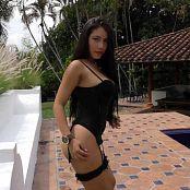 Luciana Model Black T-Back Lingerie TM4B 4K UHD & HD Video 006