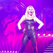 Britney Spears Super Sexy Shiny Black Catsuit First Row View 4K UHD Video