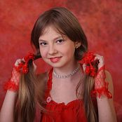 Silver Starlets Bella Red Dress Picture Set 1