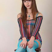 Silver Starlets Eva Blue Stockings Picture Set 1