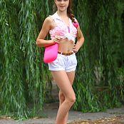 Silver Stars Eva White Shorts Picture Set 1