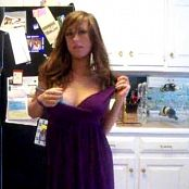 Hot Brunette Kitchen Striptease Video