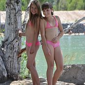 Silver Starlets Ariana & Katrin Pink Bikini Picture Set 1