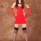 Silver Starlets Mari Red Dress Picture Set 1