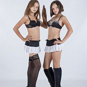Silver Starlets Nika & Kira Cosplay Dance Picture Set 1