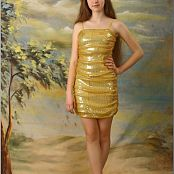 TeenModelingTV Lena Gold Dress Picture Set