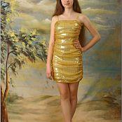 TeenModelingTV Lena Gold Dress Picture Set