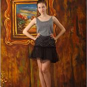 TeenModelingTV Lena Grey Black Dress Picture Set