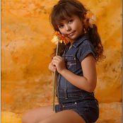 TeenModelingTV Nika Blue Jean Dress Picture Set