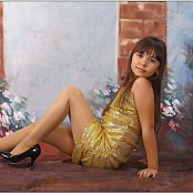 TeenModelingTV Nika Gold Dress Picture Set