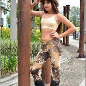 TeenModelingTV Sol Animal Print Leggings Picture Set