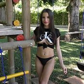 Britney Mazo Torn T-Shirt & Little Black Thong TBS 4K UHD & HD Video 004