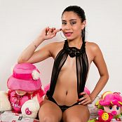 Emily Reyes Black T-Back Outfit TCG Picture Set 001