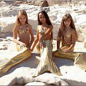 TeenModelingTV Sabina, Hanna & Khloe Shiny Golden Mermaids H2O Picture Set
