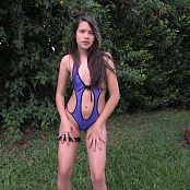 Kelly Kutie Blue One Piece T-Back TCG HD Video 001