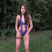 Kelly Kutie Blue One Piece T-Back TCG HD Video 001