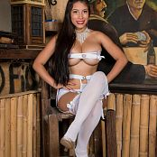 Luciana Model White T-Back outfit TCG Picture Set 002