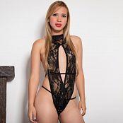 Luisa Henano Lacey Black Lingerie TM4B Picture Set 002