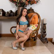 Mellany Mazo Sheer Blue Top TBS Picture Set 008