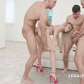 Kira Thorn Anal Gangbang 3 White then 3 Black Cocks HD Video