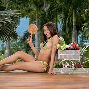 Dayana Medina Super Tiny Green Bikini TCG Picture Set 002